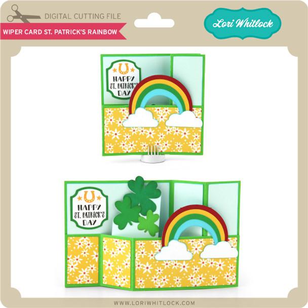Wiper Card St Patrick's Rainbow