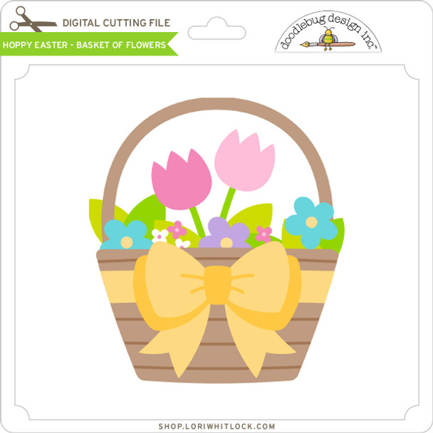 Hoppy Easter - Basket of Flowers