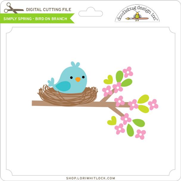 Simply Spring - Bird on Branch