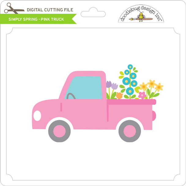 Simply Spring - Pink Truck