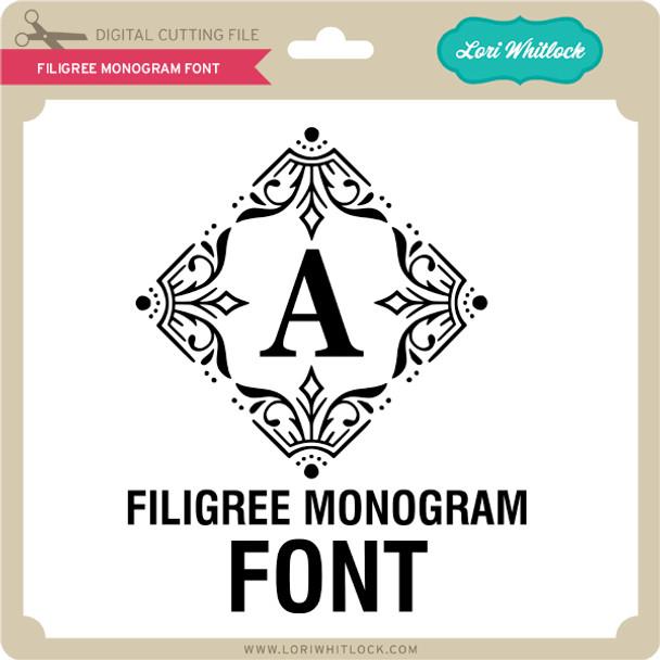 Filigree Monogram Font