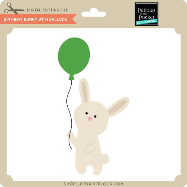 Birthday Bunny with Balloon