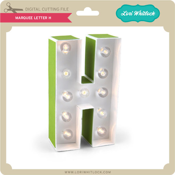 Marquee Letter H