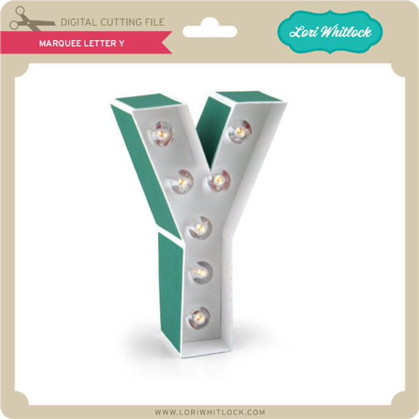 Marquee Letter Y