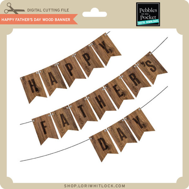 Happy Fathers Day Wood Banner