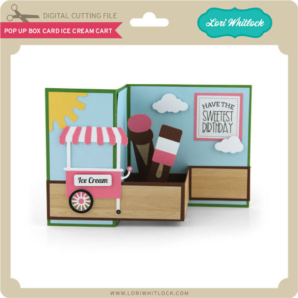 Pop Up Box Card Ice Cream Cart