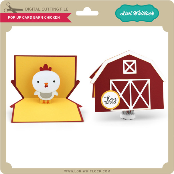 Pop Up Card Barn Chicken