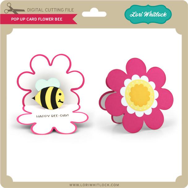 Pop Up Card Flower Bee