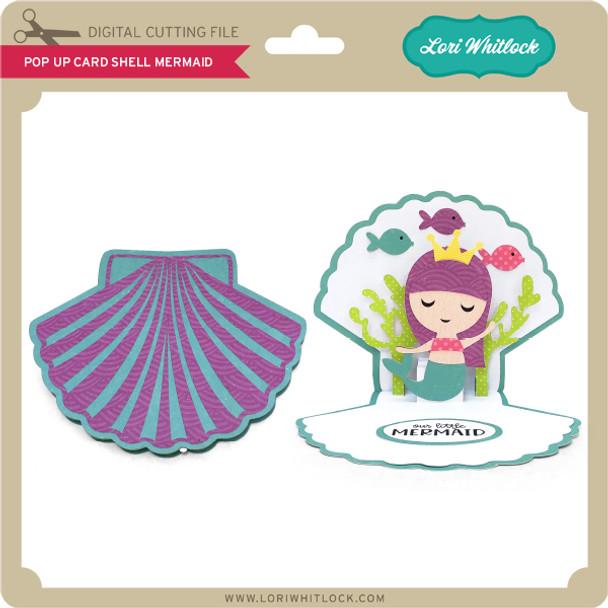 Pop Up Card Shell Mermaid