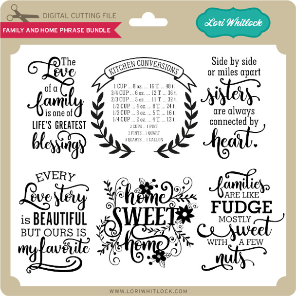 Family and Home Phrase Bundle