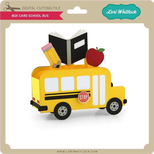 Box Card School Bus