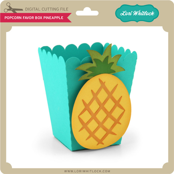 Popcorn Favor Box Pineapple