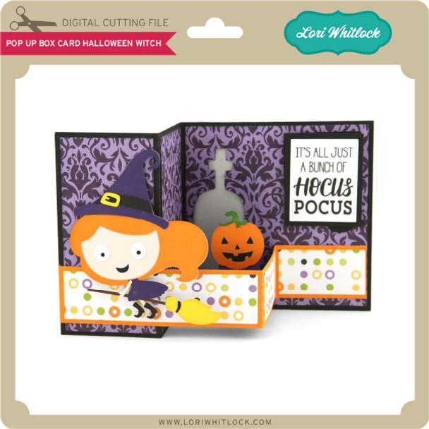 Pop Up Box Card Halloween Witch