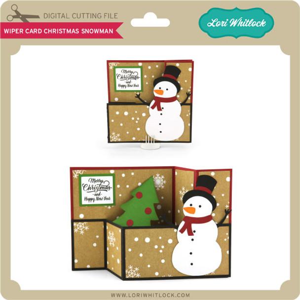 Wiper Card Christmas Snowman