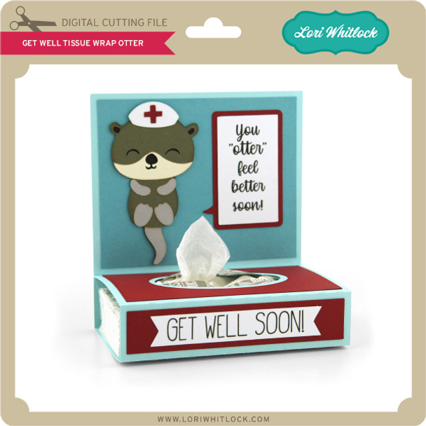 Get Well Tissue Wrap Otter