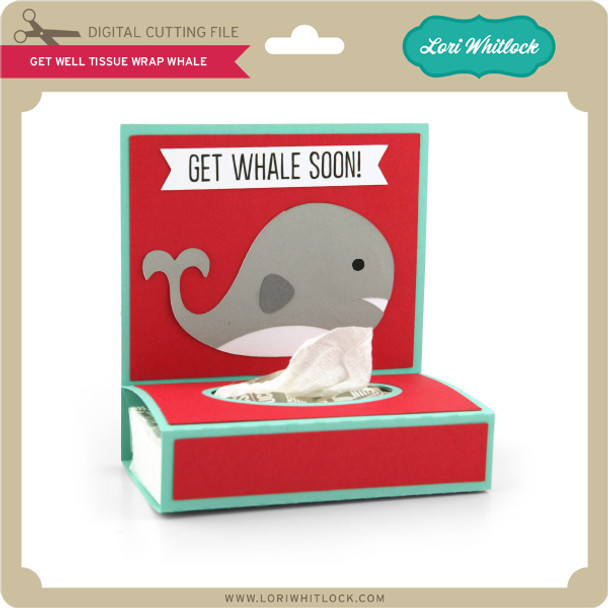 Get Well Tissue Wrap Whale