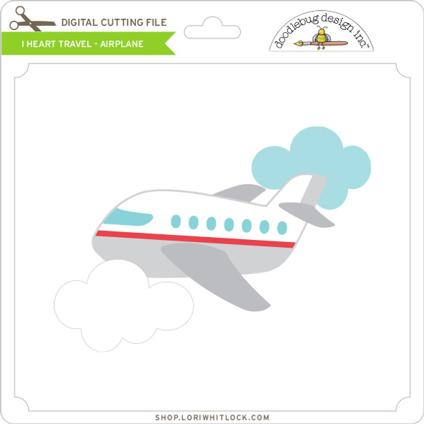 I Heart Travel - Airplane