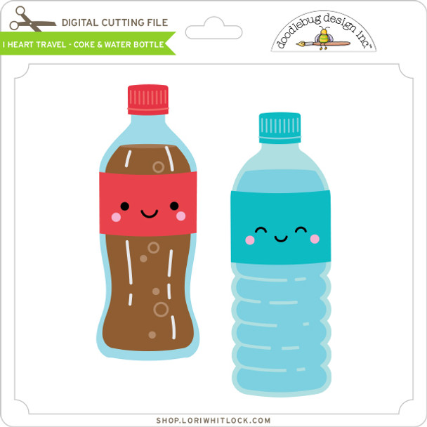 I Heart Travel - Coke & Water Bottle