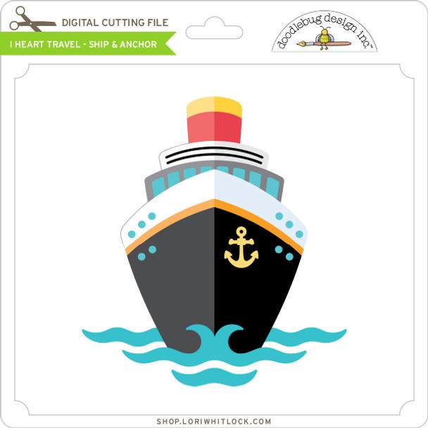 I Heart Travel - Ship & Anchor