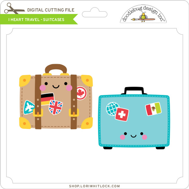 I Heart Travel - Suitcases