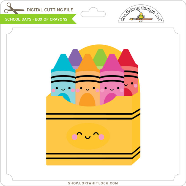 School Days - Box of Crayons