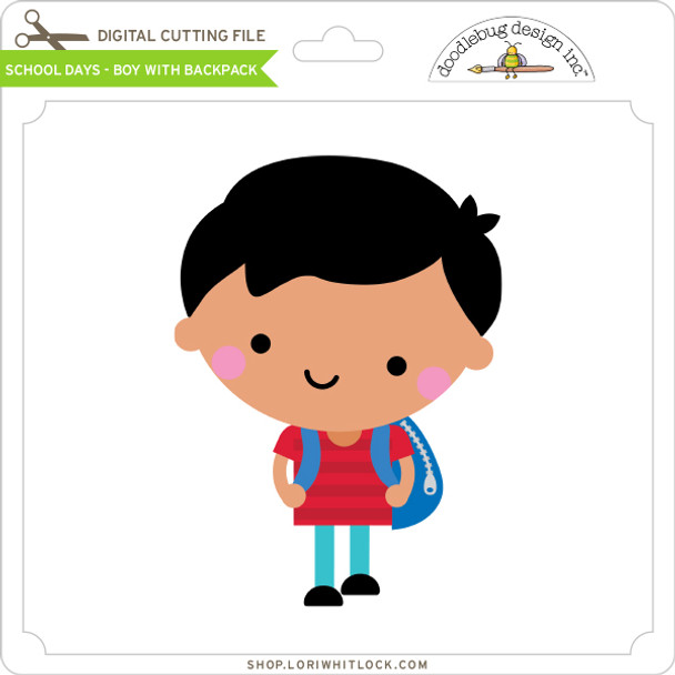 School Days - Boy with Backpack