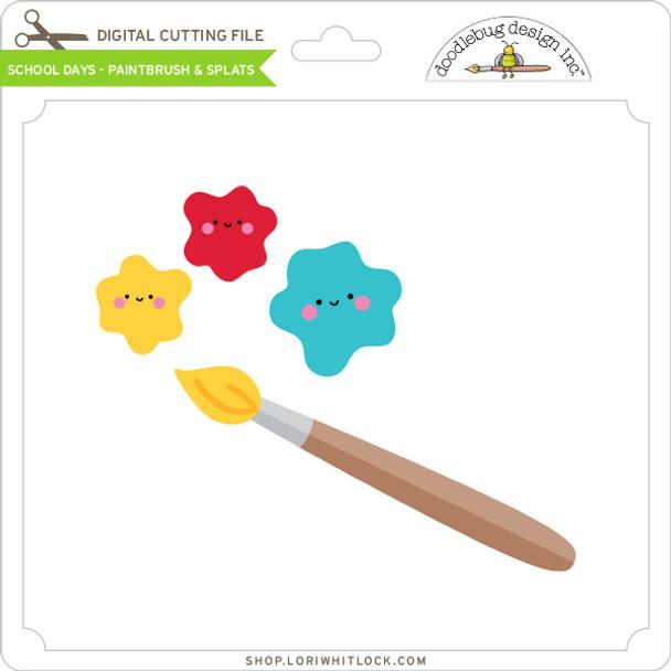 School Days - Paintbrush & Splats