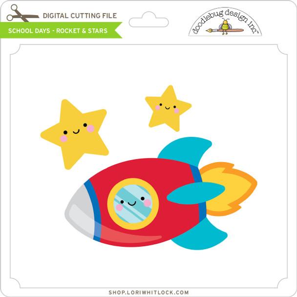 School Days - Rocket & Stars