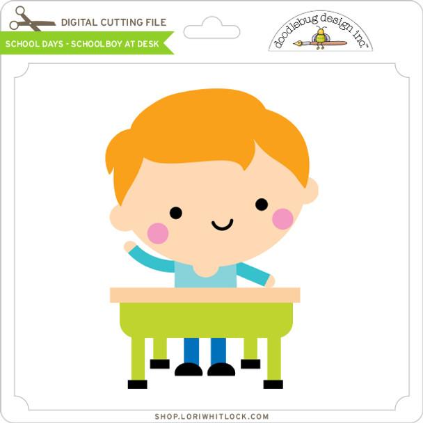 School Days - Schoolboy at Desk