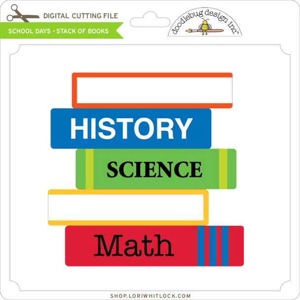 School Days - Stack of Books