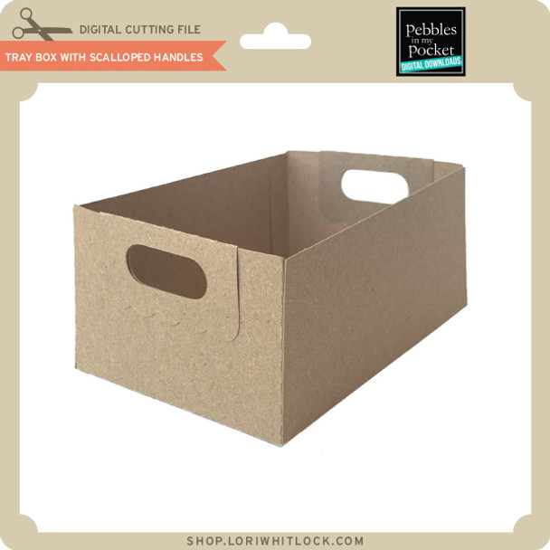 Tray Box With Scalloped Handles