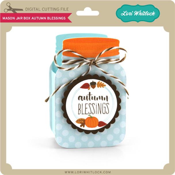 Mason Jar Box Autumn Blessings