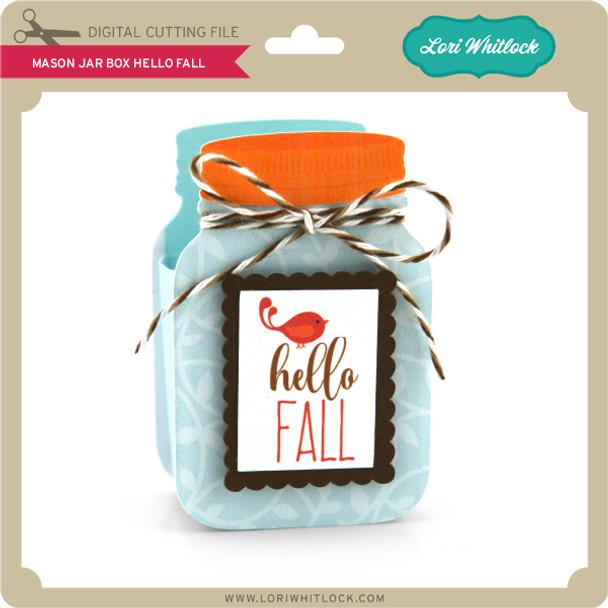 Mason Jar Box Hello Fall