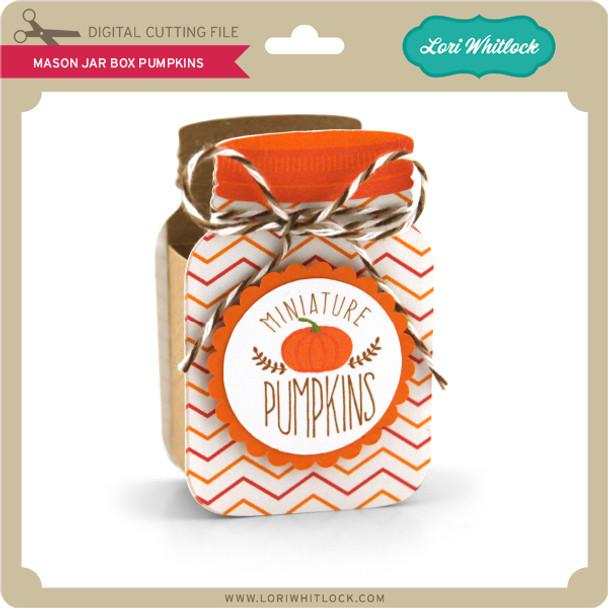 Mason Jar Box Pumpkins