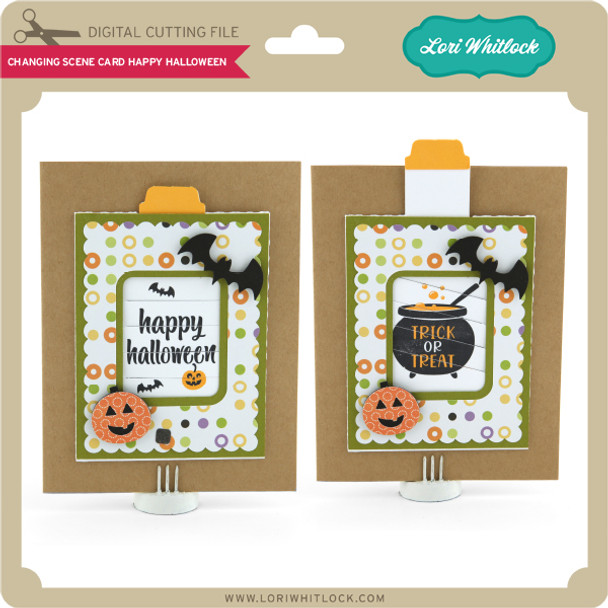 Changing Scene Card Happy Halloween