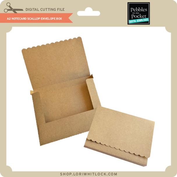 A2 Notecard Scallop Envelope Box
