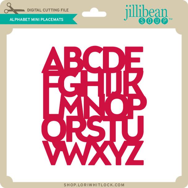 Alphabet Mini Placemats