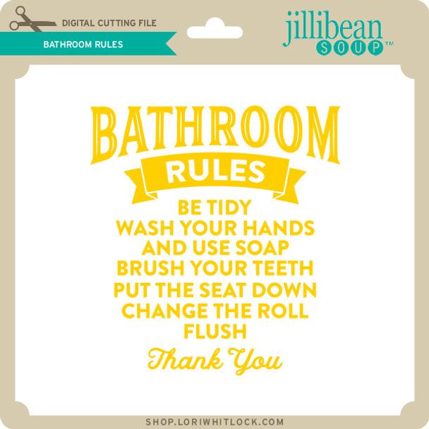 JB Bathroom Rules 2