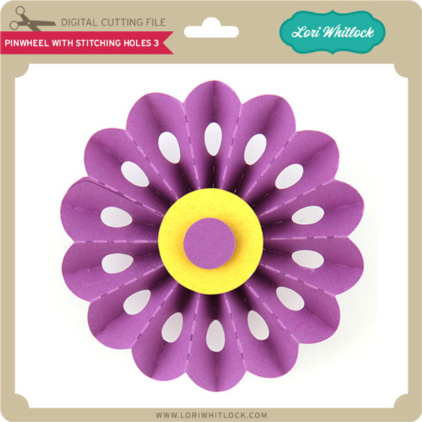Pinwheel with Stitching Holes 3