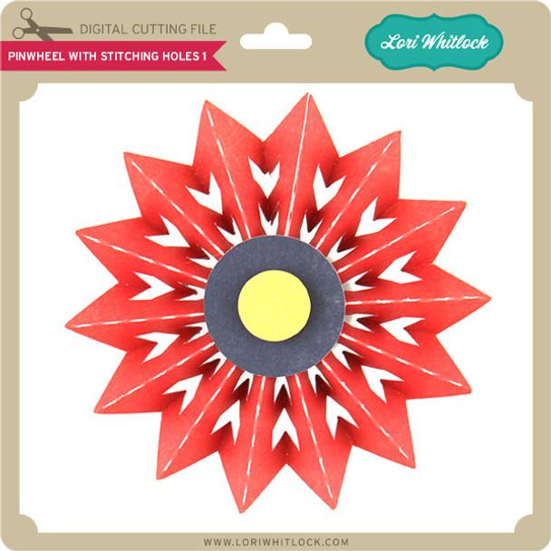Pinwheel with Stitching Holes 1