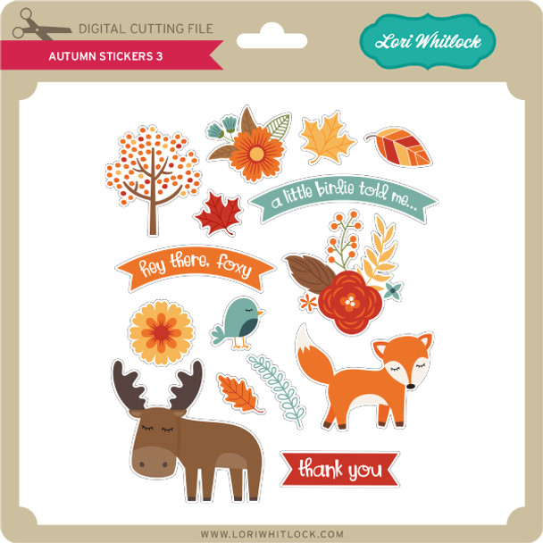 Autumn Stickers 3