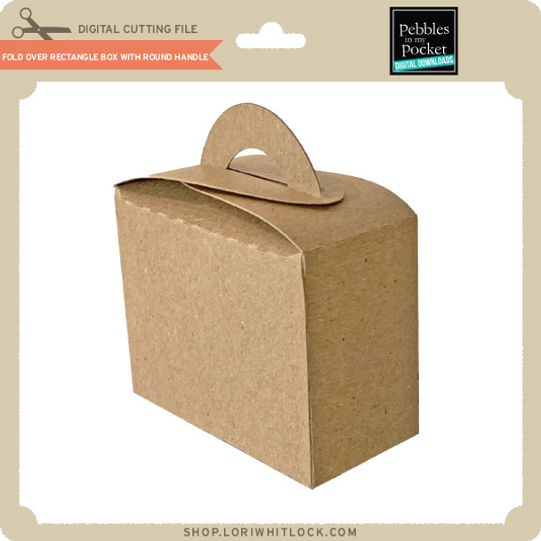 Fold Over Rectangle Box with Round Handle