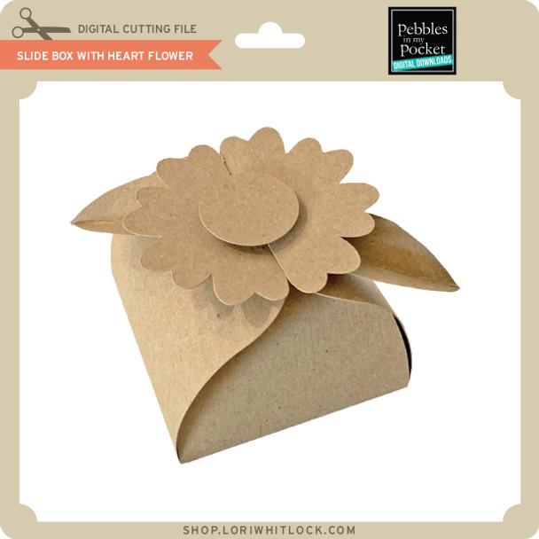 Slide Box with Heart Flower