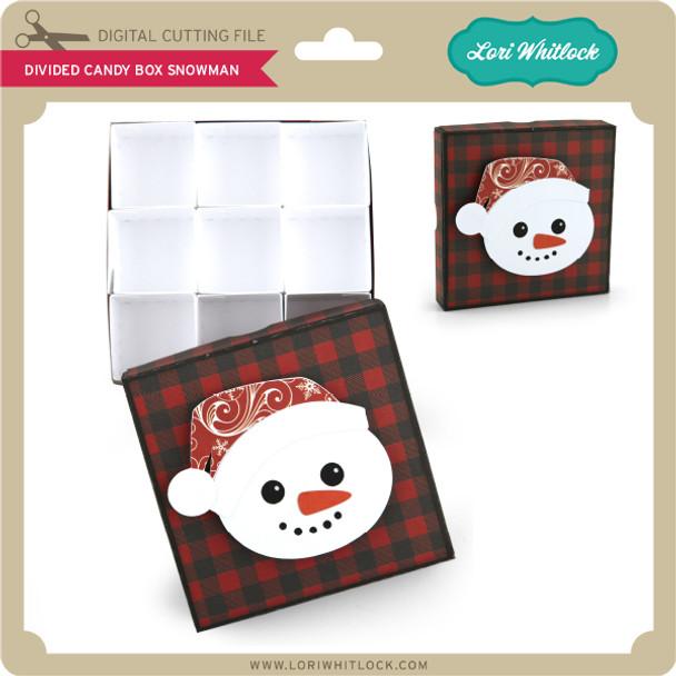 DIvided Candy Box Snowman