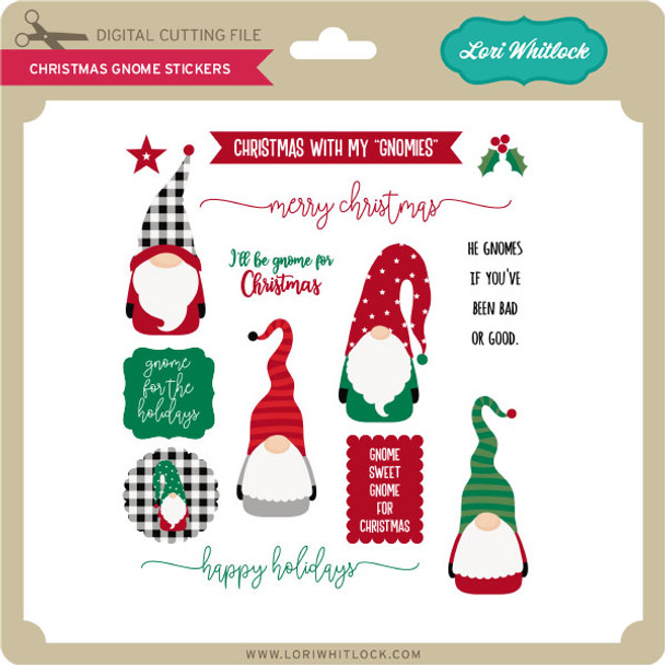 Christmas Gnome Stickers