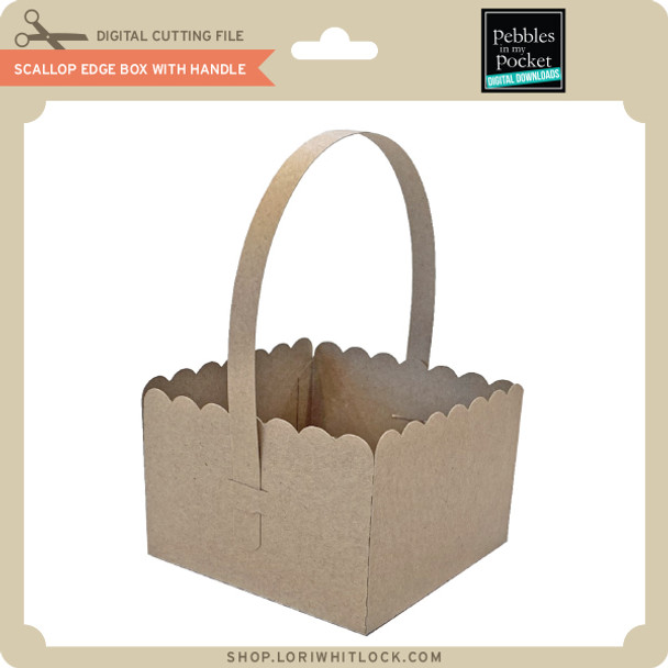 Scallop Edge Box with Handle