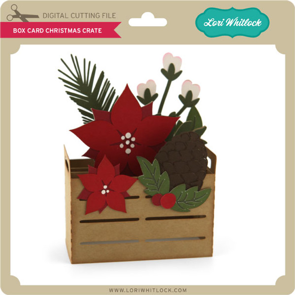 Box Card Christmas Crate