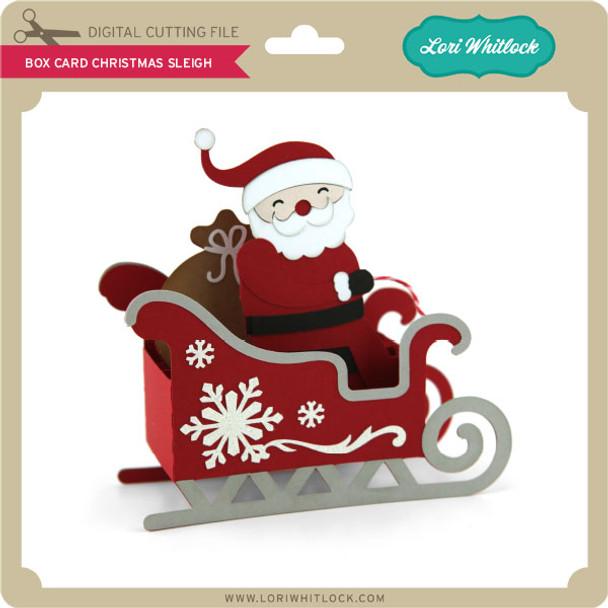 Box Card Christmas Sleigh