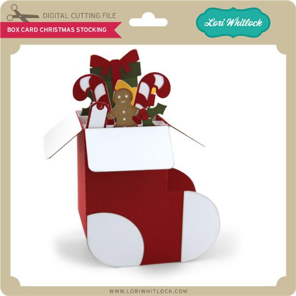 Box Card Christmas Stocking