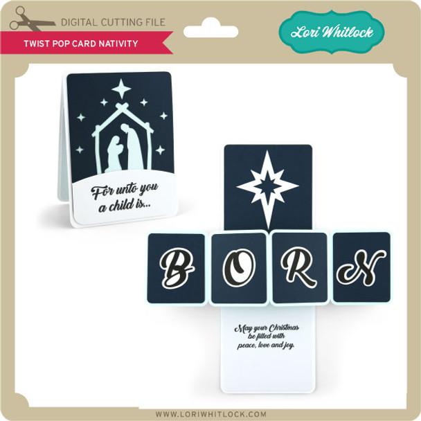Twist Pop Card Nativity